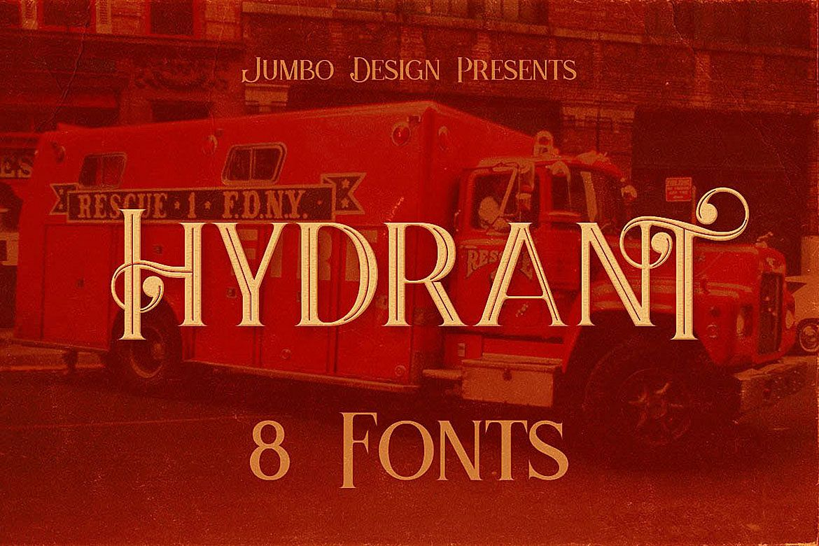 Hydrant - Vintage Style Font example image 1