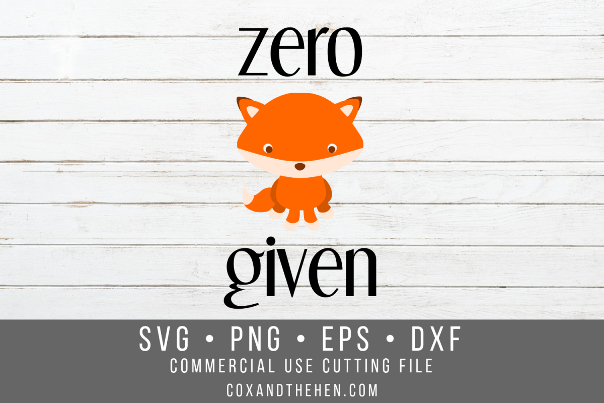 Zero Fox Given SVG example image 1