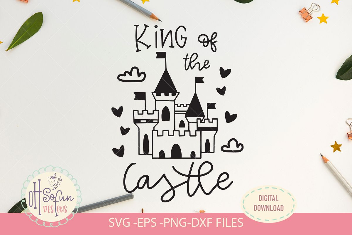 King of the castle, SVG file, prince castle example image 1