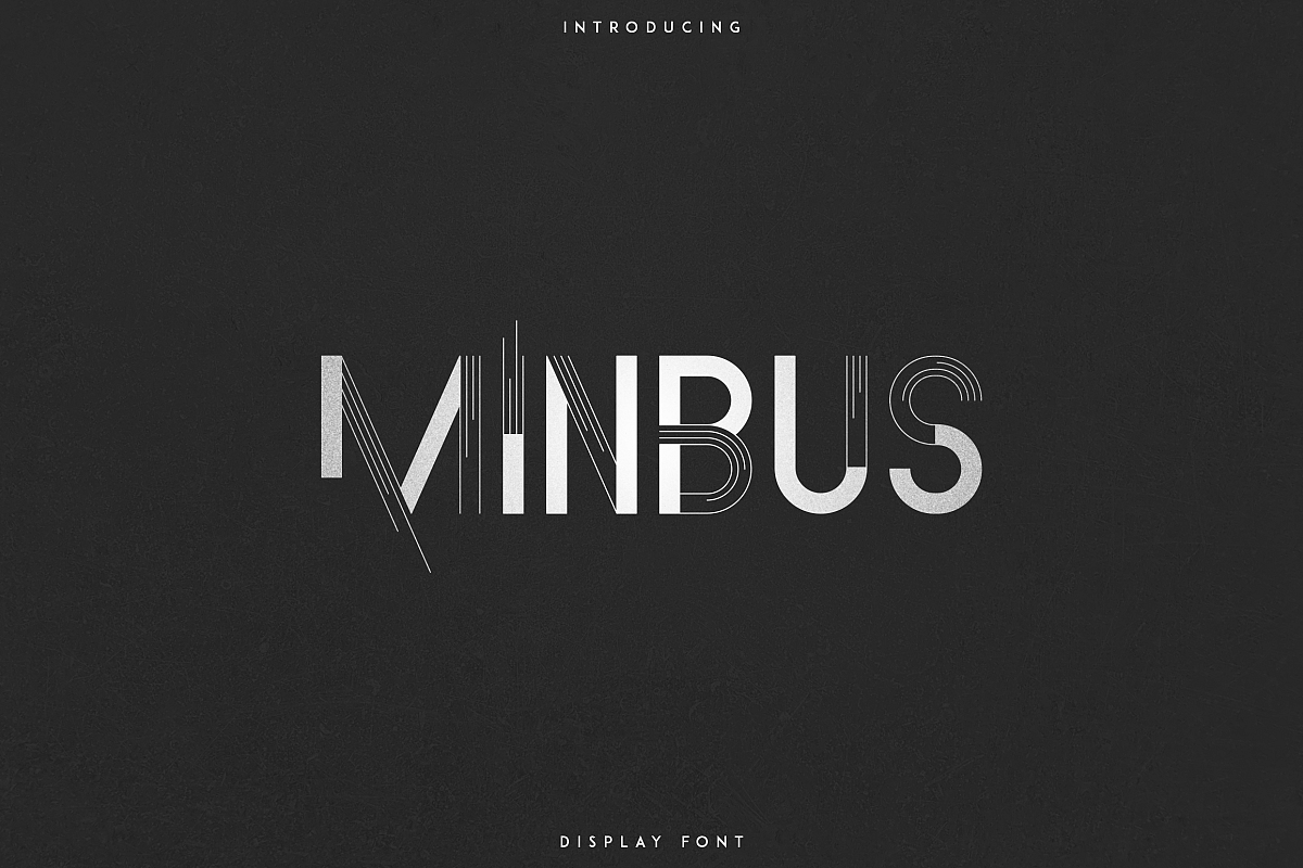 Minbus - Display font example image 1