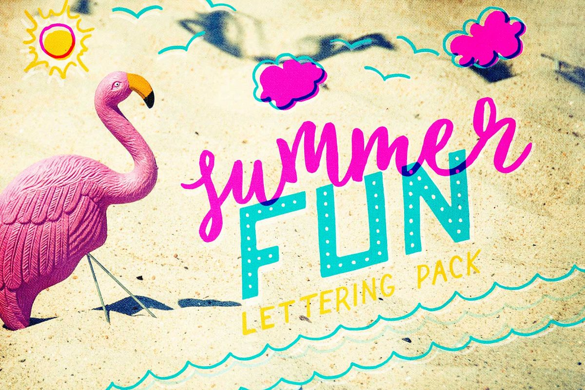 Summer Fun Lettering Pack example image 1