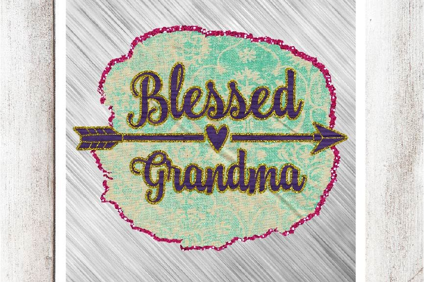 Blessed Grandma Digital Graphic example image 1