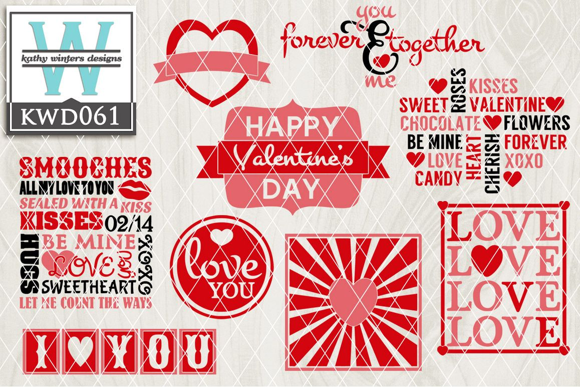 Valentines SVG - Valentine Bundle KWD061 example image 1