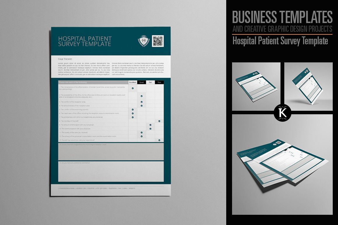Hospital Patient Survey Template example image 1
