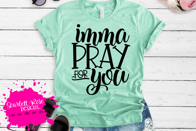 Imma Pray for You SVG example image 1