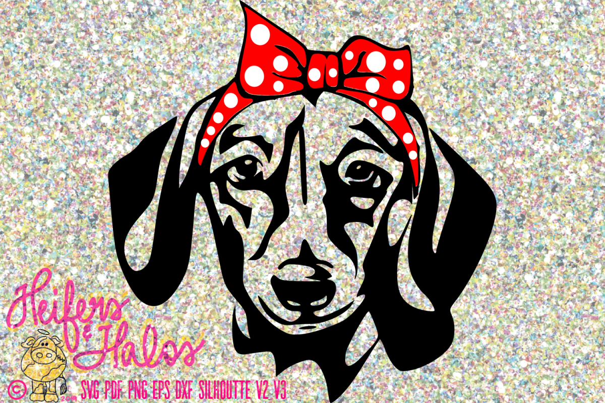 Dachshund Doxie with bow bandana example image 1