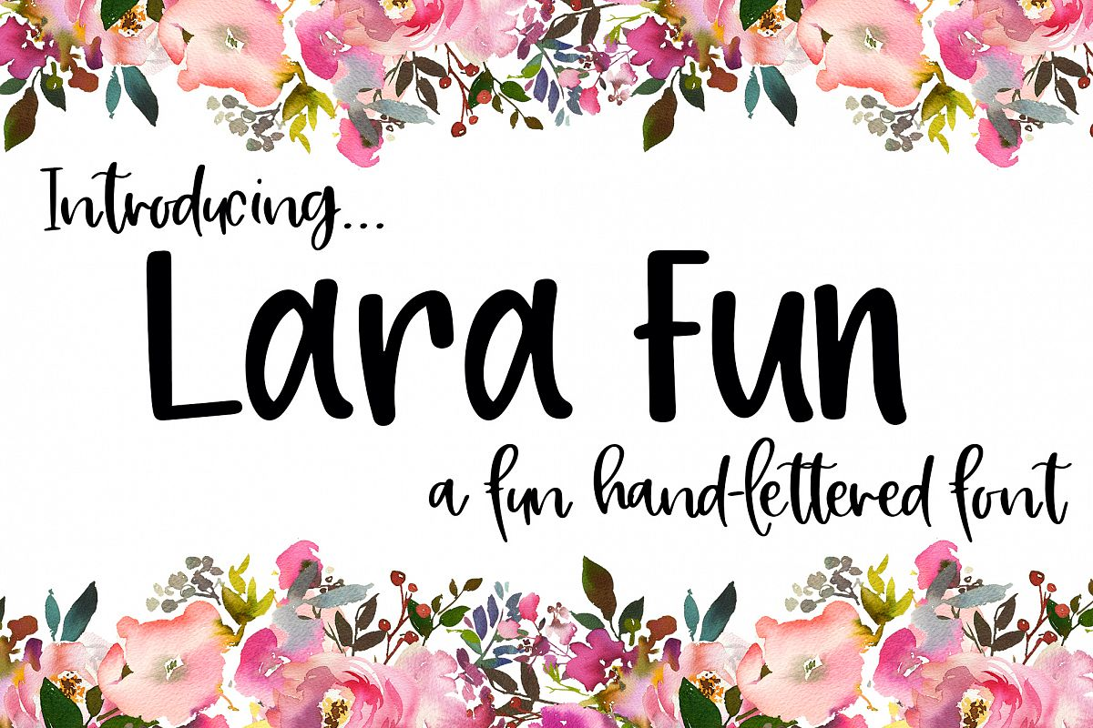 Lara Fun Font - A Fun Hand-Lettered Font example image 1