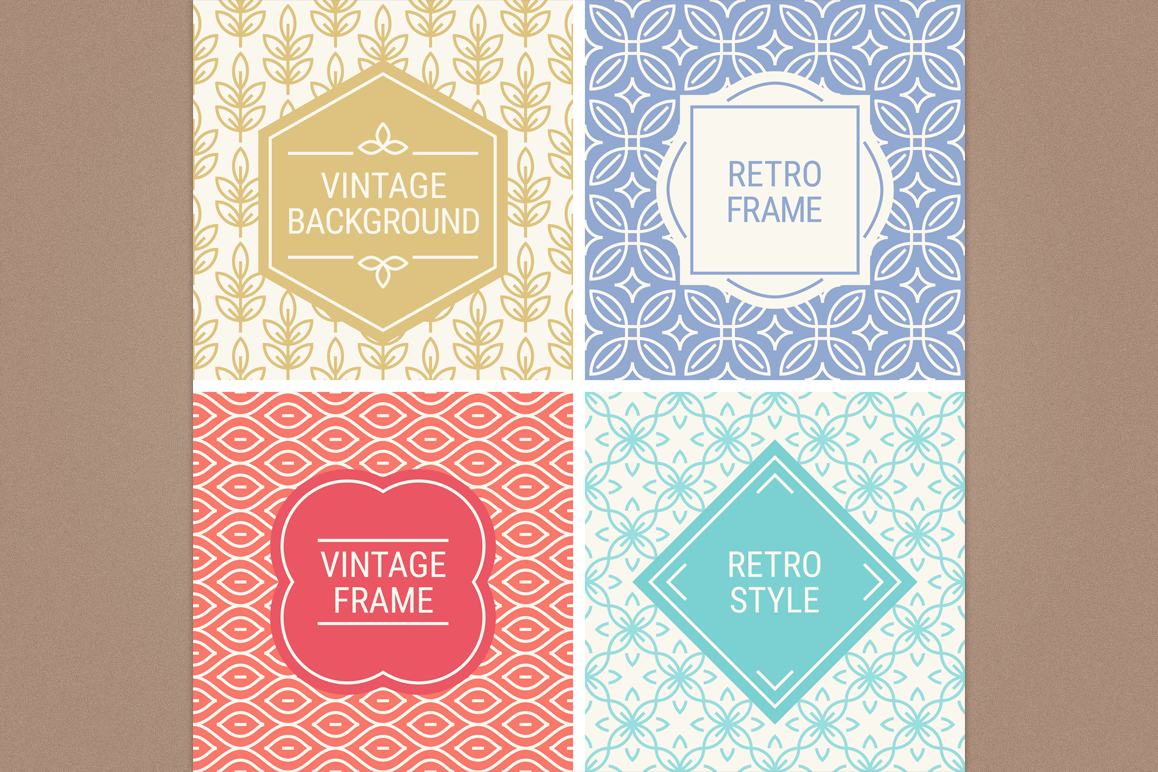 Mono Line Frames and Patterns - Set 18 example image 1