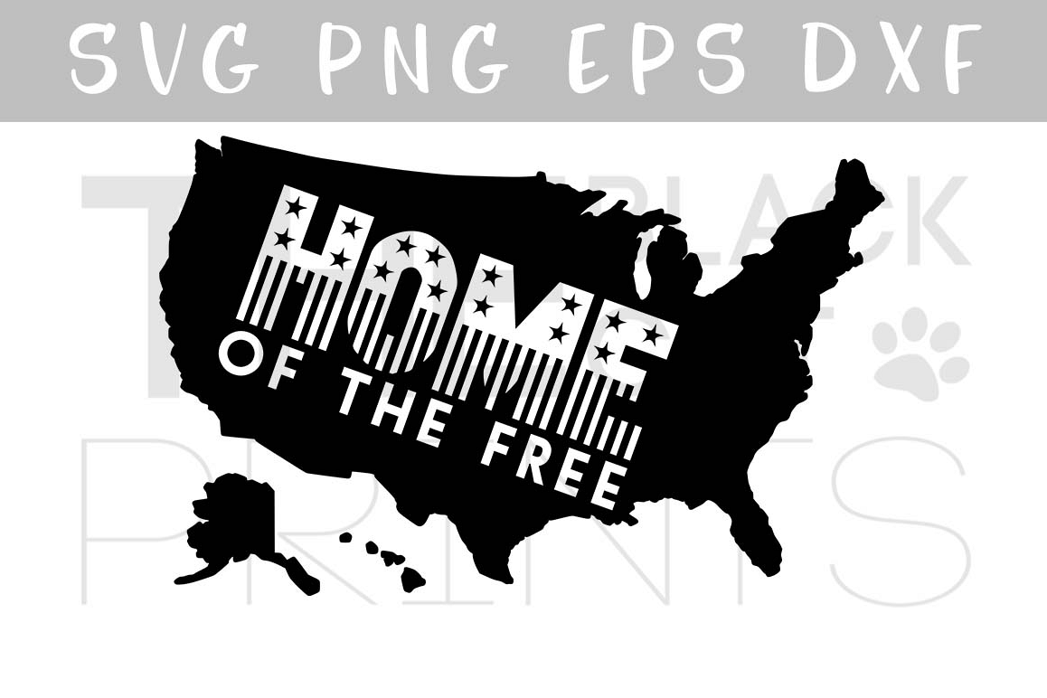 USA map SVG PNG EPS DXF Home SVG 4th of July SVG Patriotic svg file example image 1