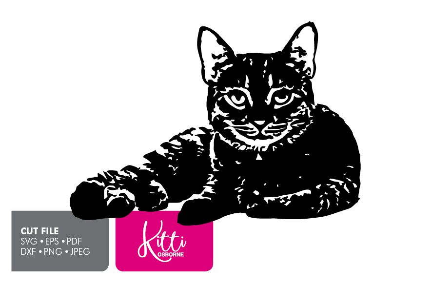 Cat Paper cut Template SVG example image 1