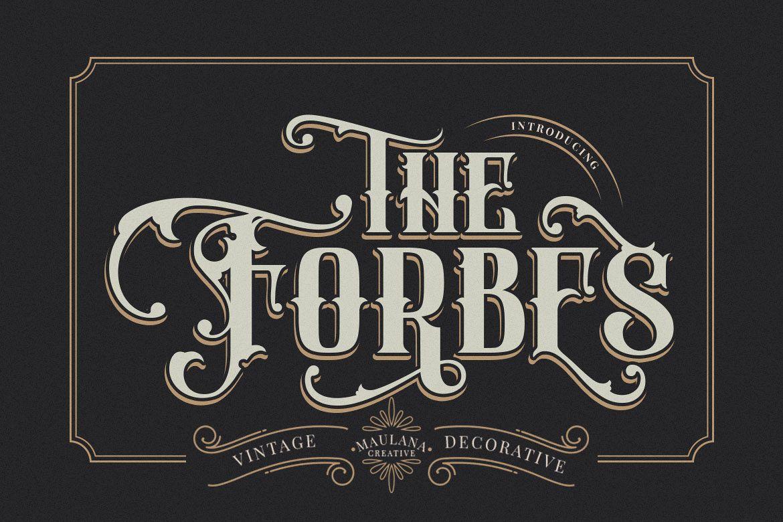 FORBES - Modern Vintage Font example image 1