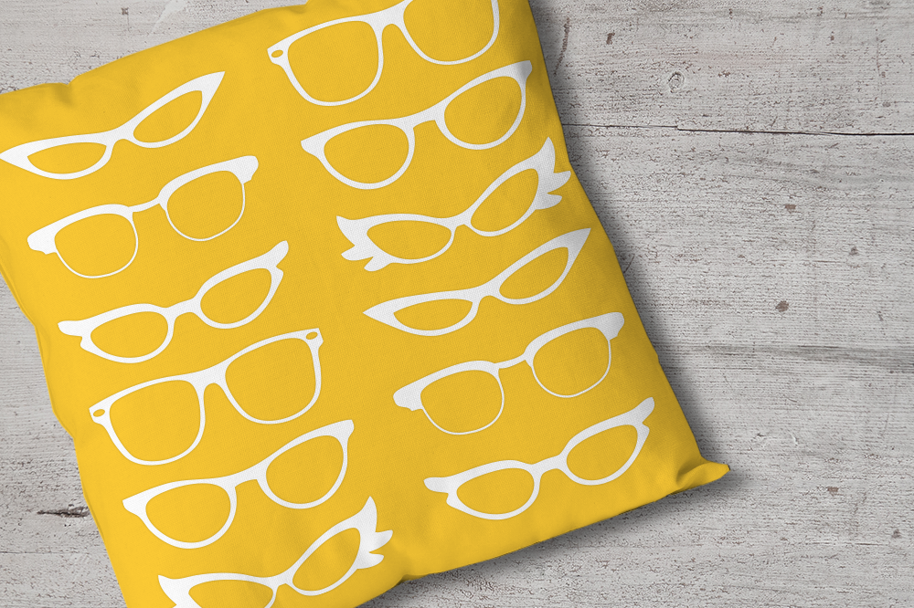Retro Glasses SVG File Cutting Template example image 1