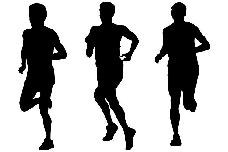 marathon runner running silhouette example image 1