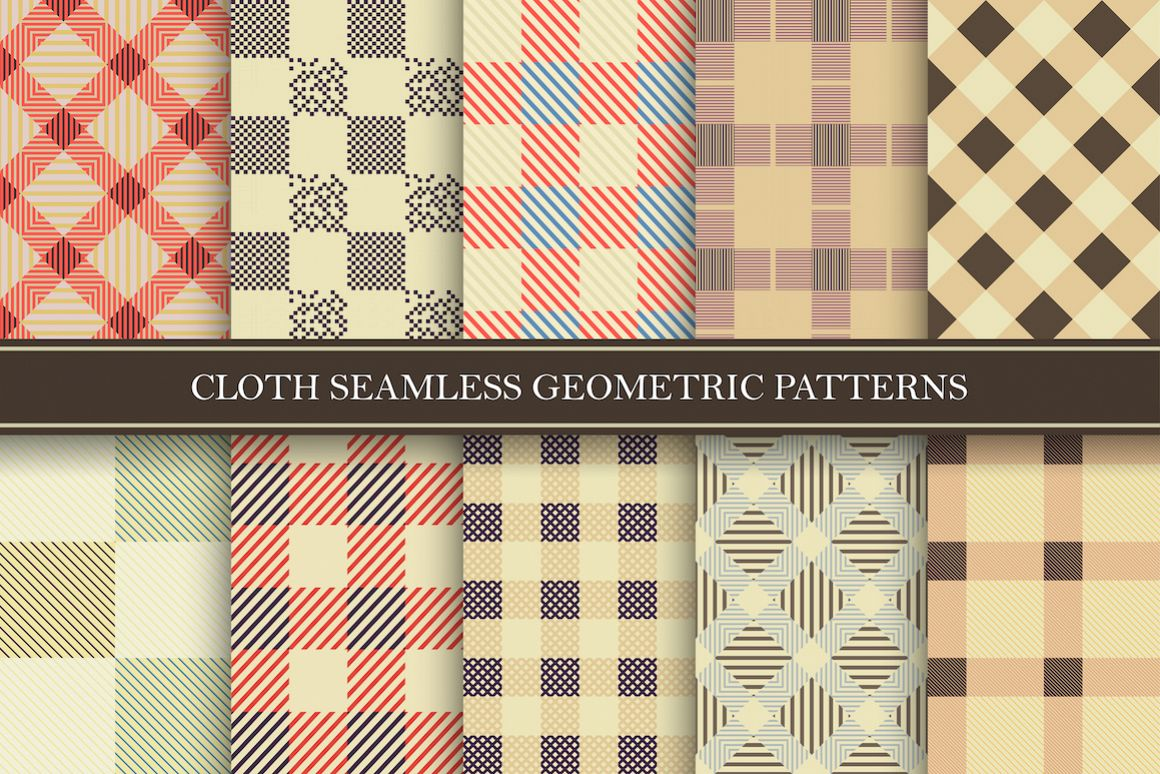 Colorful seamless textile patterns example image 1