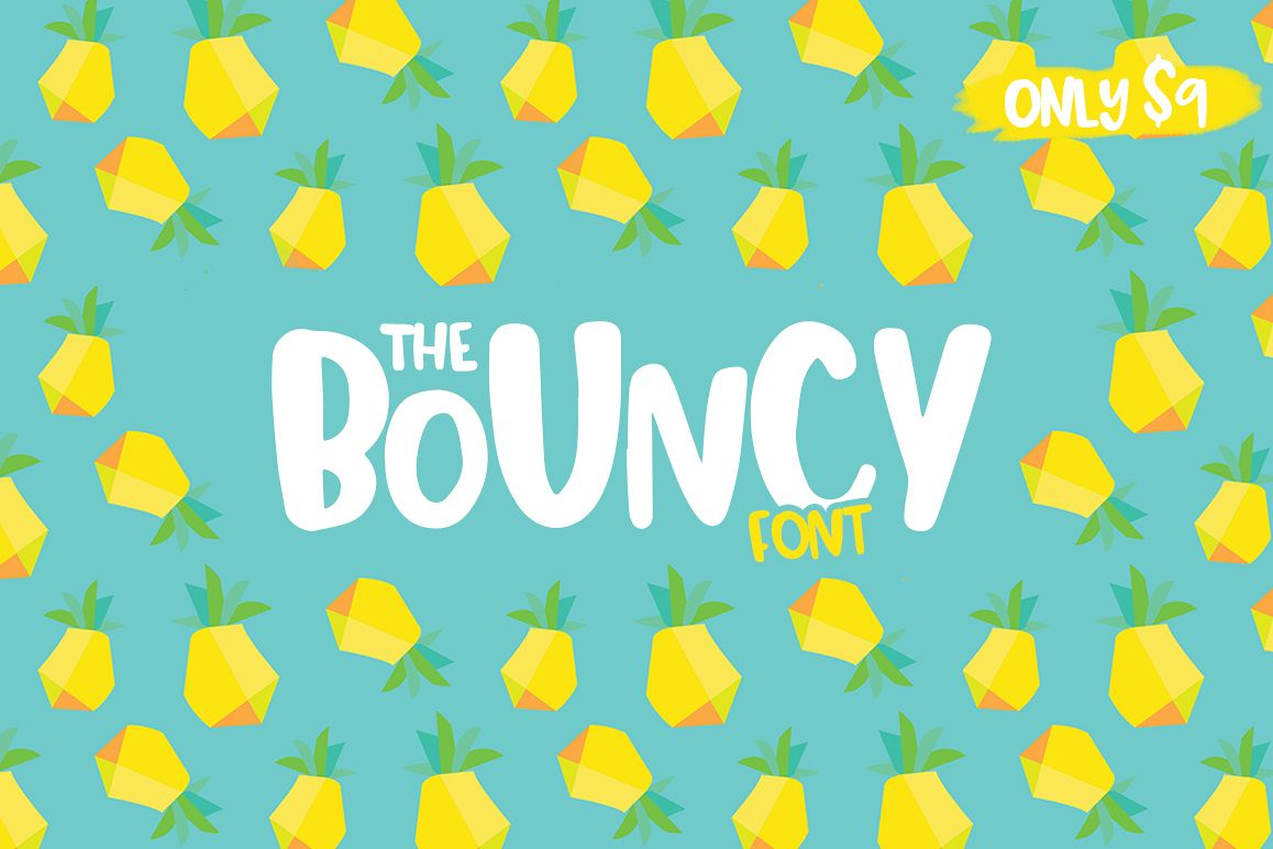 The Bouncy Font example image 1