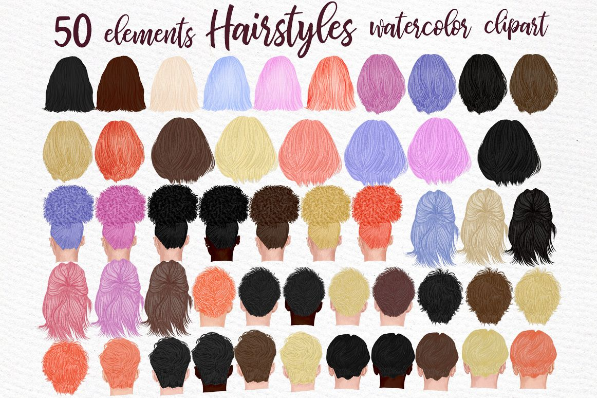 Hairstyles clipart, Girls Hairstyles,Custom Boys Hairstyles example image 1