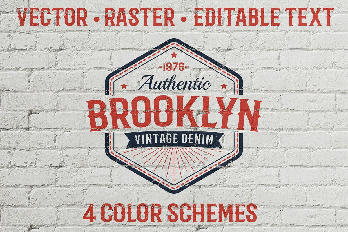 Authentic Vintage Logo Template example image 1