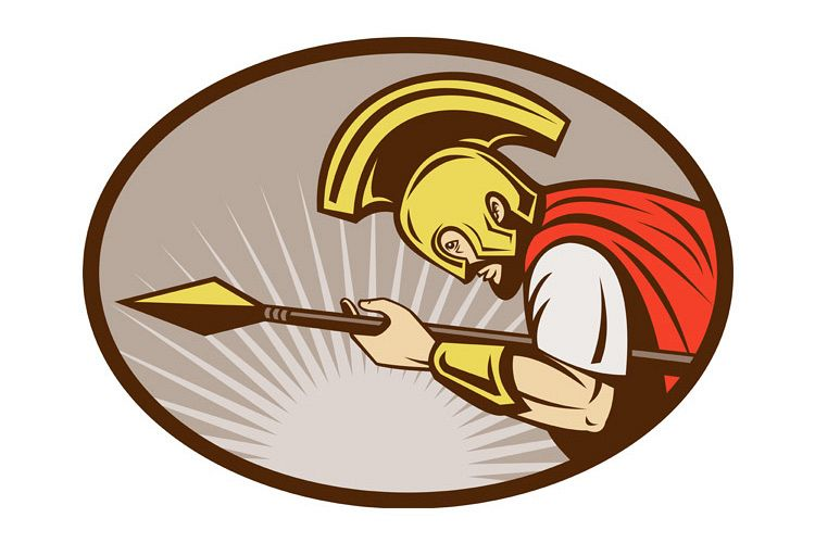 Roman soldier or gladiator attacking with spear example image 1
