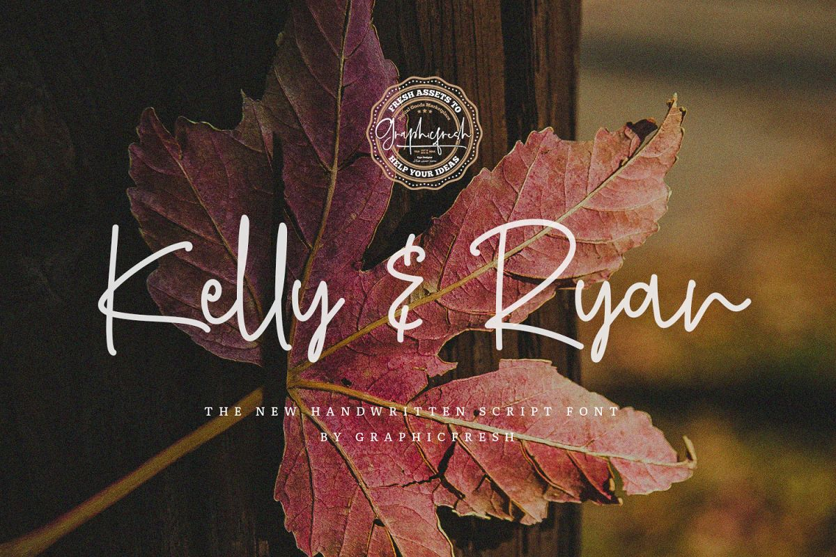 Kelly & Ryan   The Handwritten Font example image 1