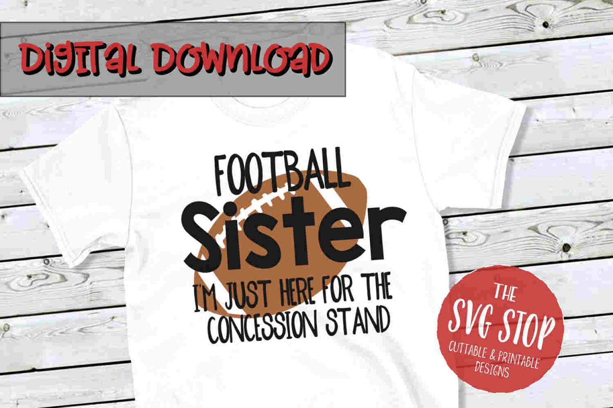 Football Sister -SVG, PNG, DXF example image 1