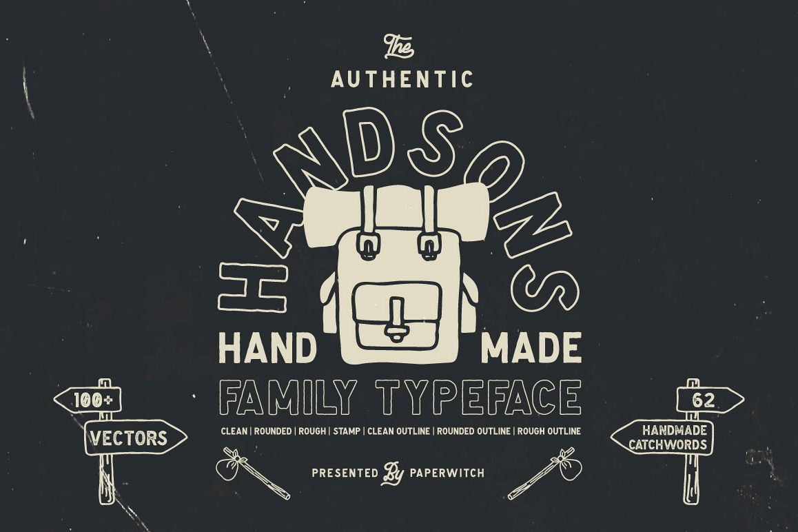 Handsons Typeface example image 1