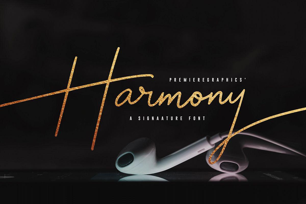Harmony Script Font example image 1