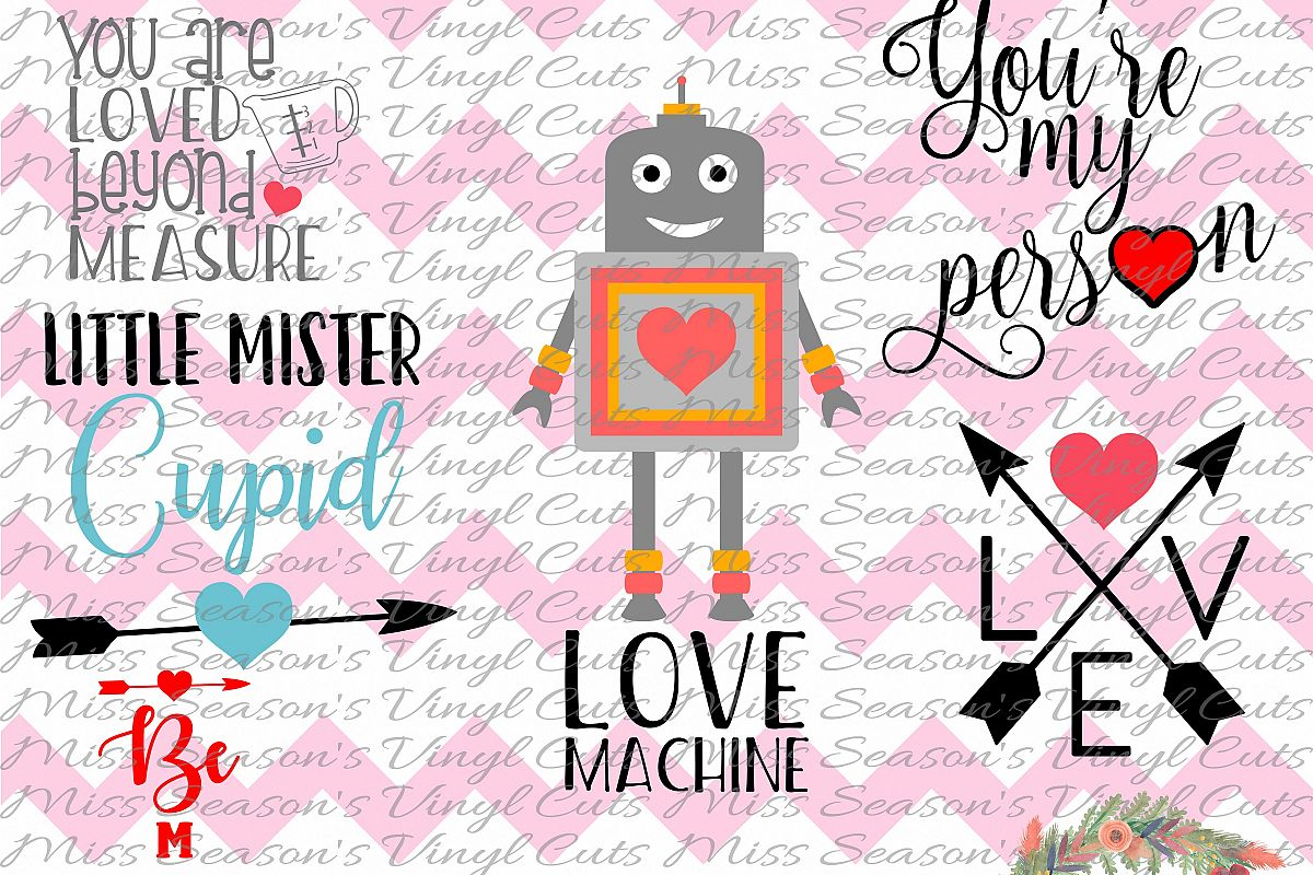 Valentines Day Bundle 6 designs SVG  example image 1