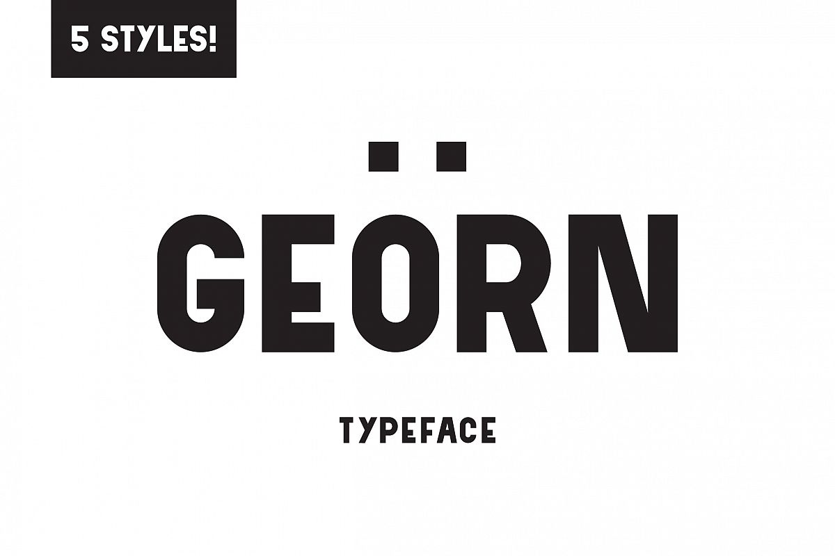 Georn Typeface  example image 1