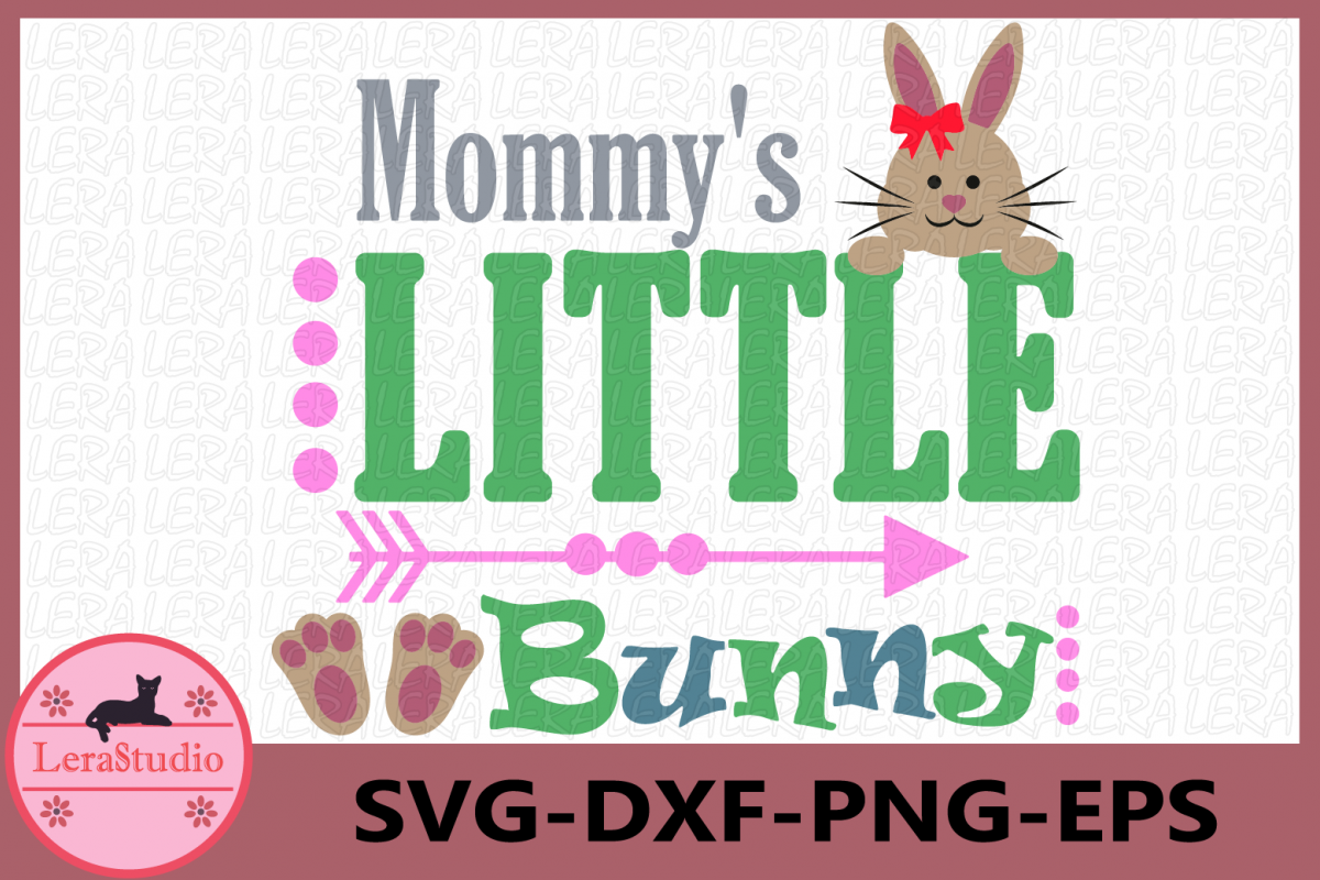 Mommy's Little Bunny svg, Bunny svg, Baby svg, Little Bunny example image 1