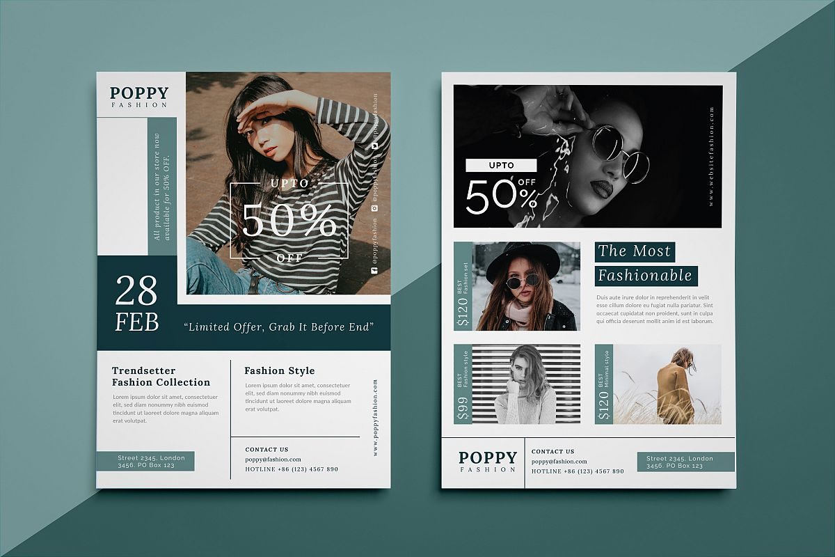 Poppy - Fashion flyer example image 1