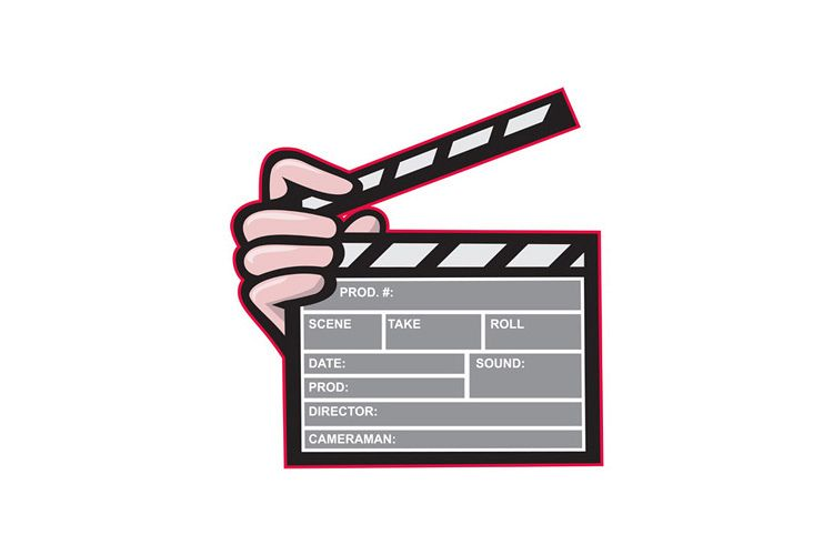 Clapboard Clapperboard Clapper Front example image 1