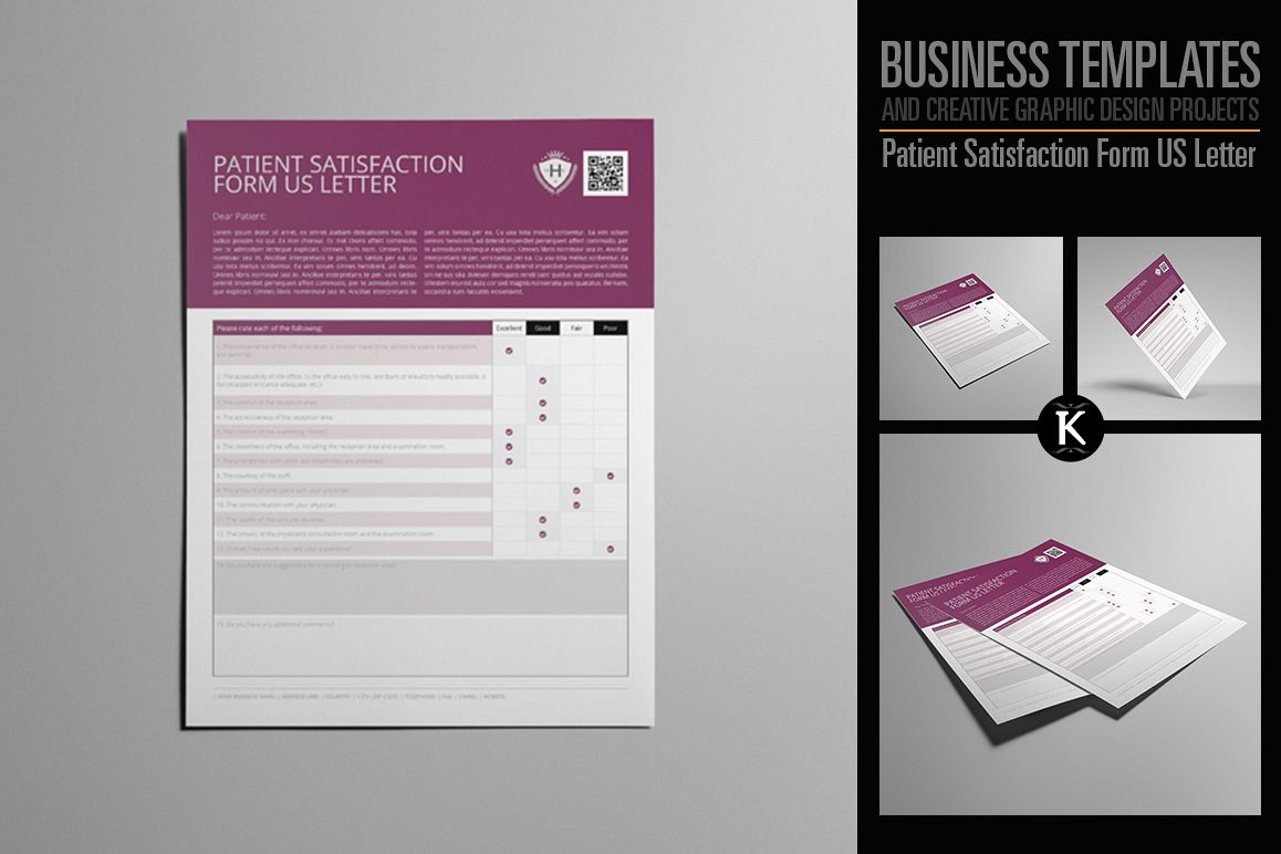 Patient Satisfaction Form US Letter example image 1
