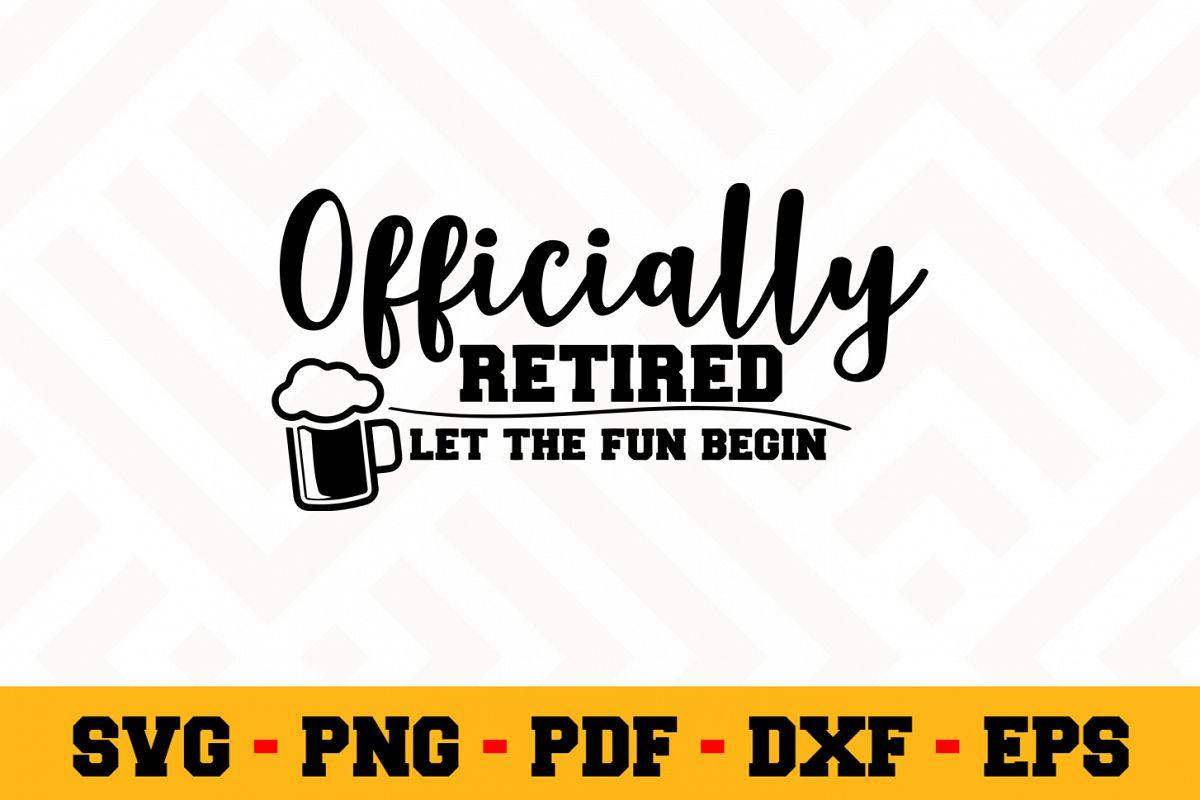 Retirement SVG Design n456 | Retired SVG Retirement Cut File example image 1