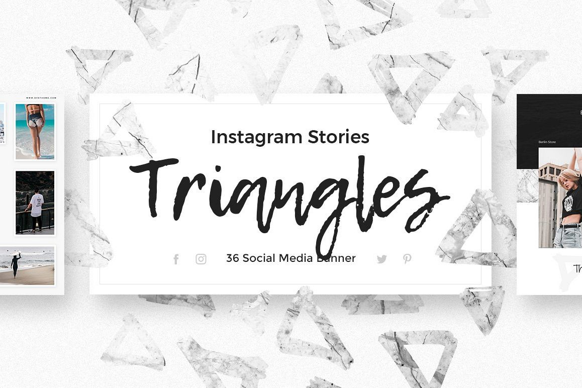 Triangles - Instagram Stories Pack example image 1
