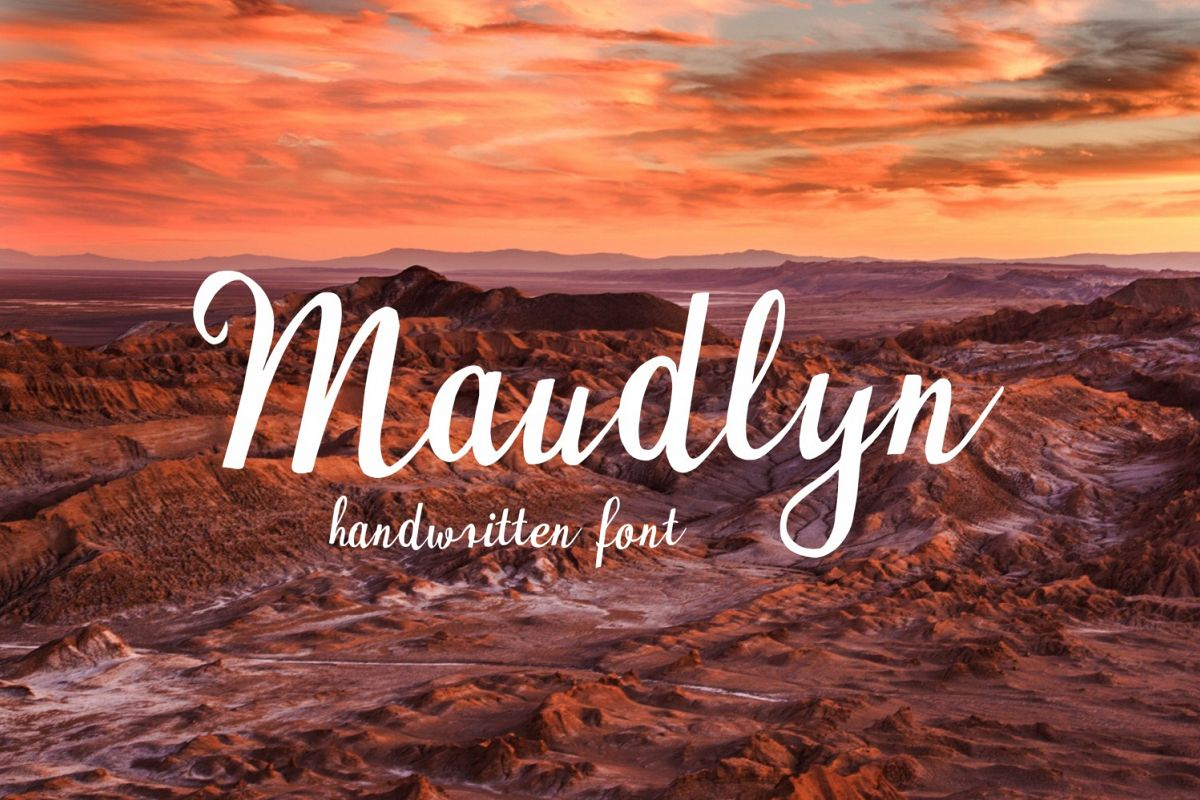 Maudlyn Font example image 1