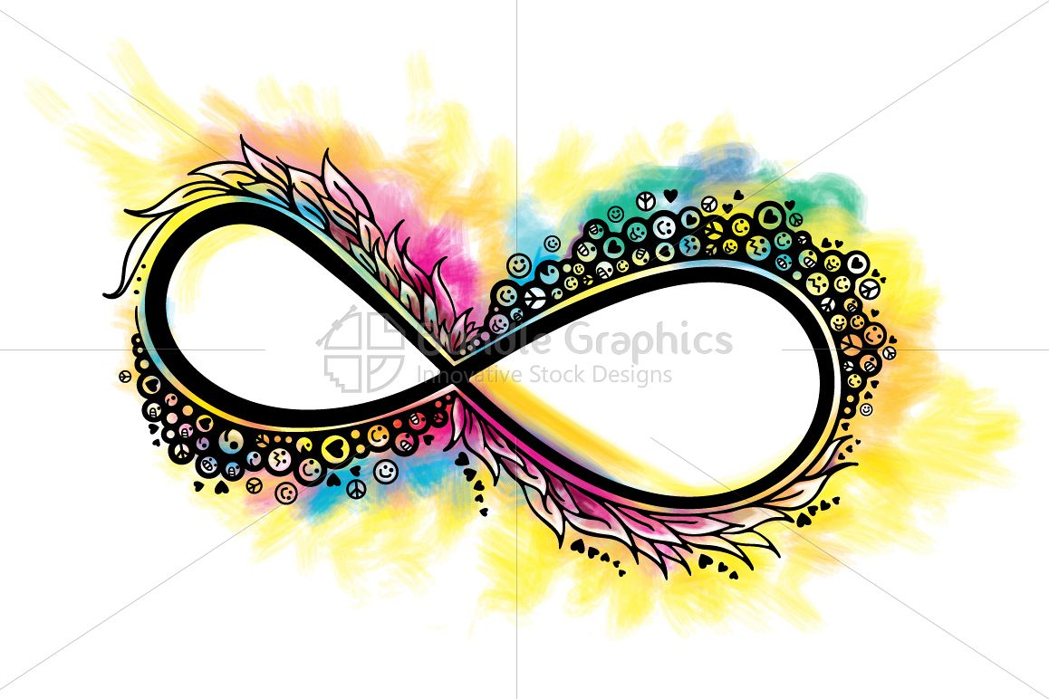 Infinity of Love & Happiness - Colorful Graphical Illustration example image 1