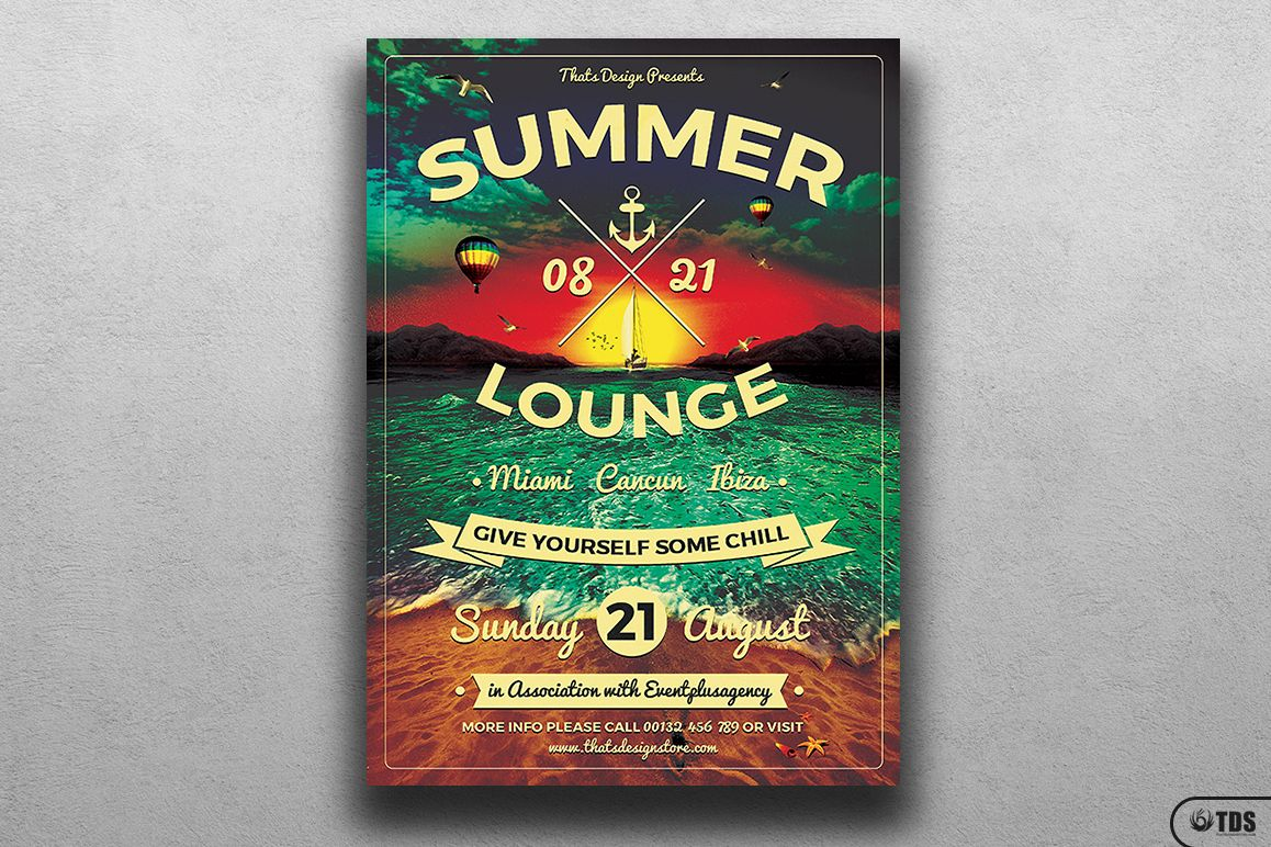 Summer Lounge Flyer Template V3 example image 1