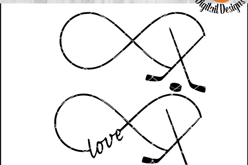 Hockey Infinity EKG SVG - png - eps - dxf - ai - fcm - Hockey SVG - Silhouette - Cricut - Scan N Cut - Hockey Love SVG example image 1