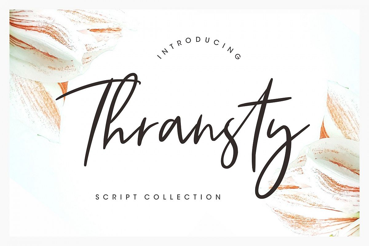 Thransty Handwritten Script example image 1