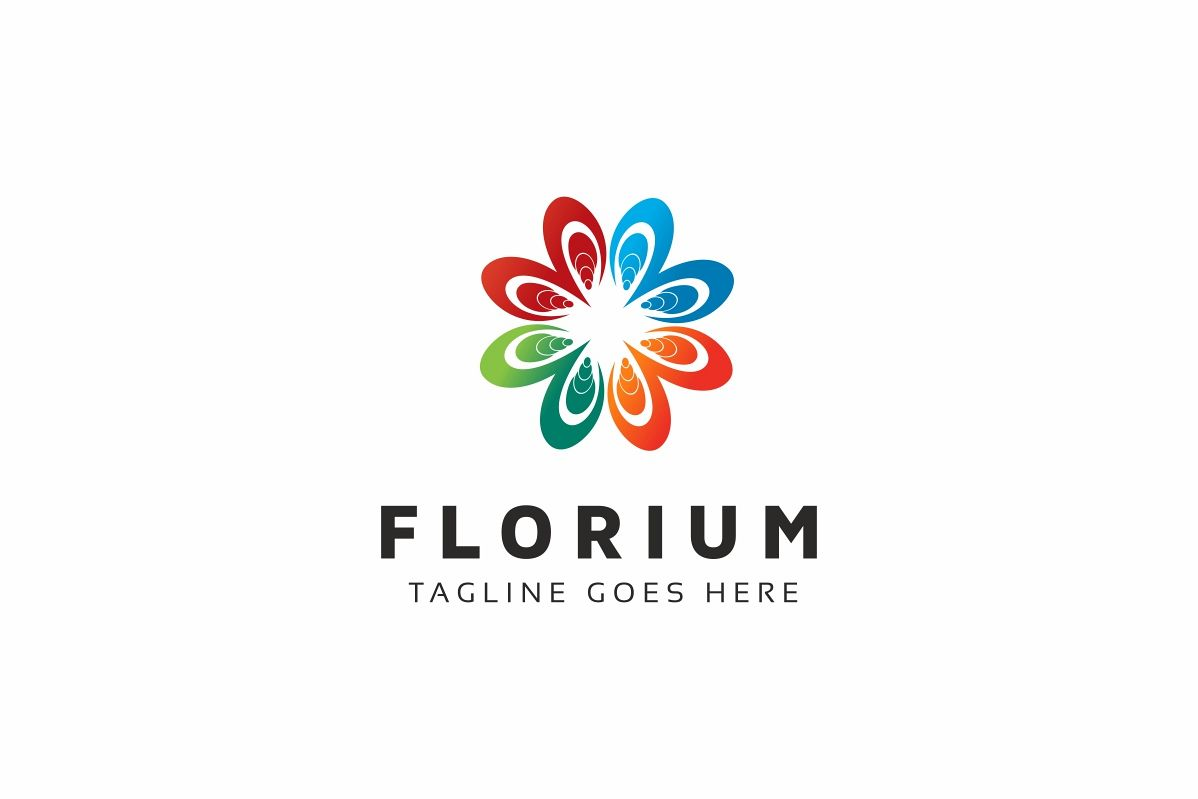 Flower Colorful Logo example image 1