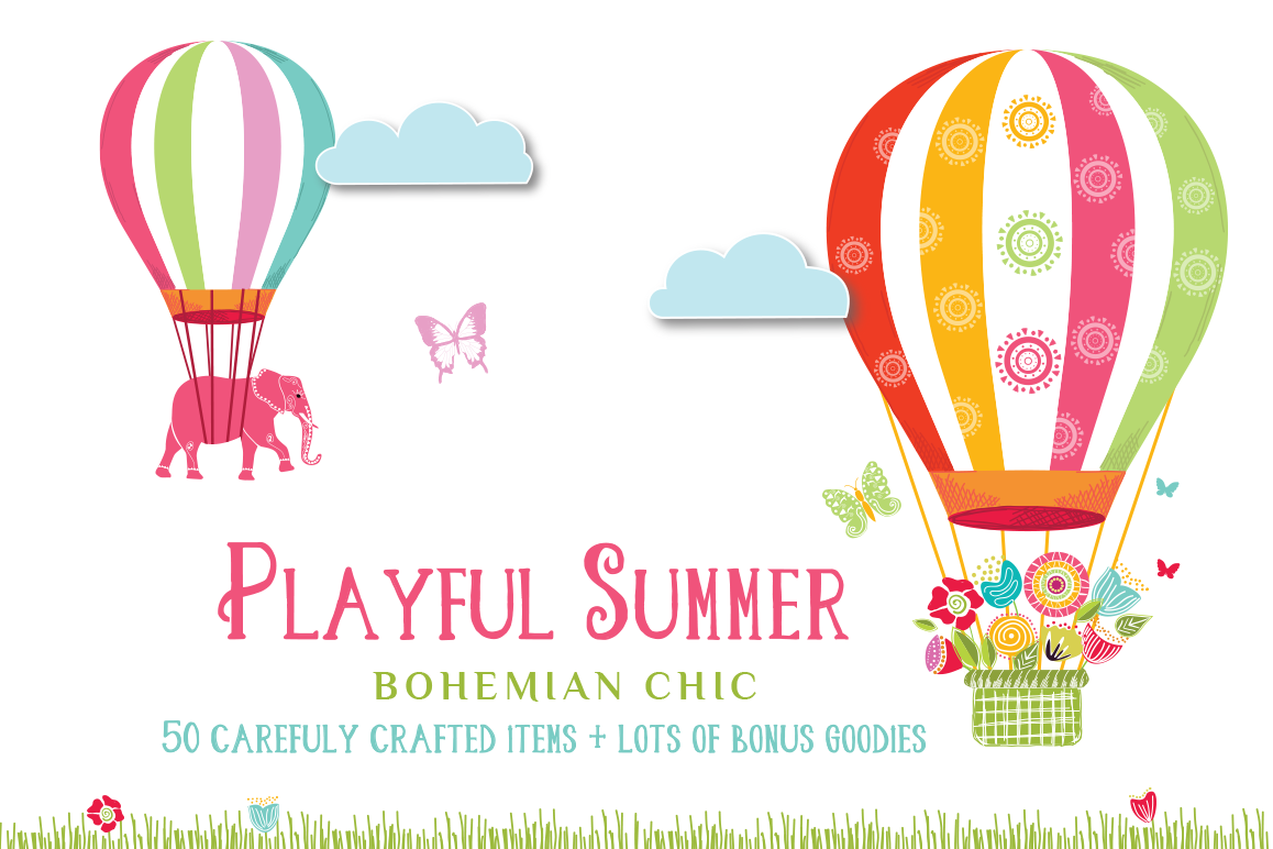Playful Summer Colorful Bohemian example image 1
