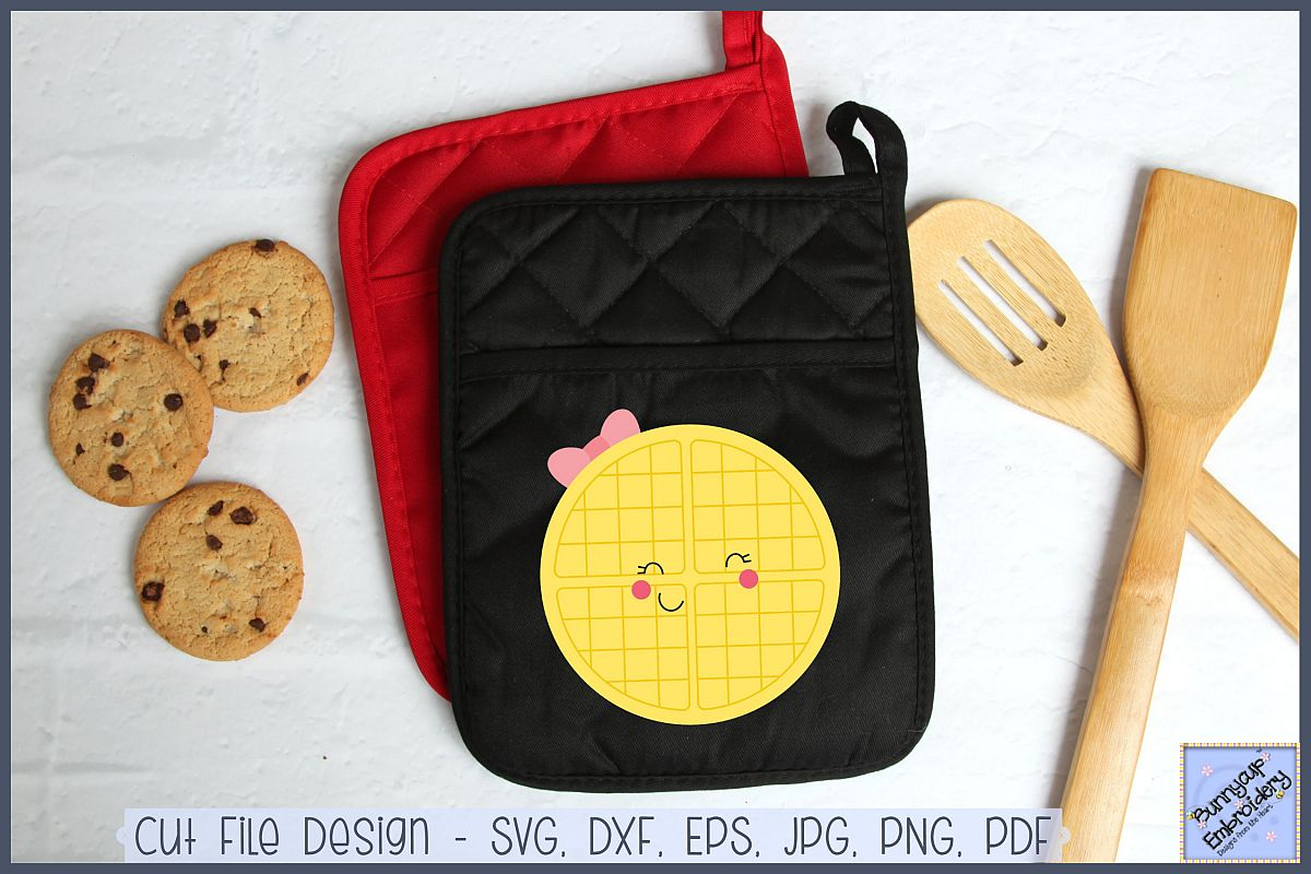 Food Duo - Waffle - SVG, Clipart, Printable example image 1