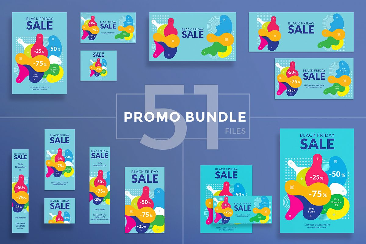 Black Friday Sale Design Templates Bundle example image 1