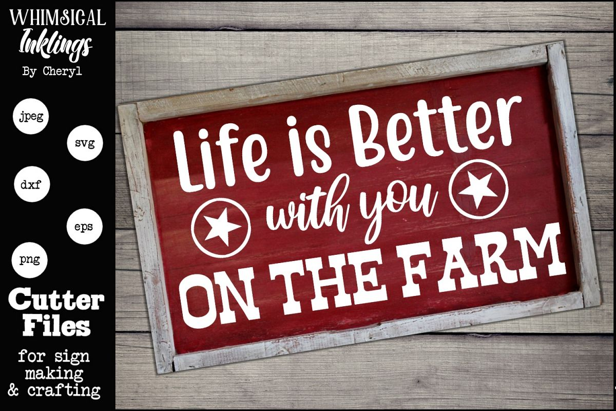 With You On The Farm SVG example image 1
