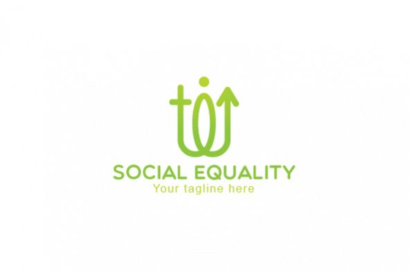 Social Equality - Male & Female Gender Iconic Abstract Stock example image 1
