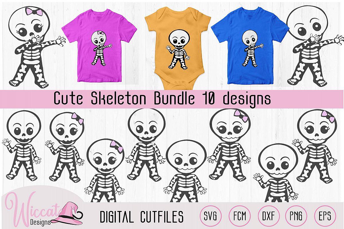Cute skeleton bundle, boy skeleton, girl skeleton, example image 1