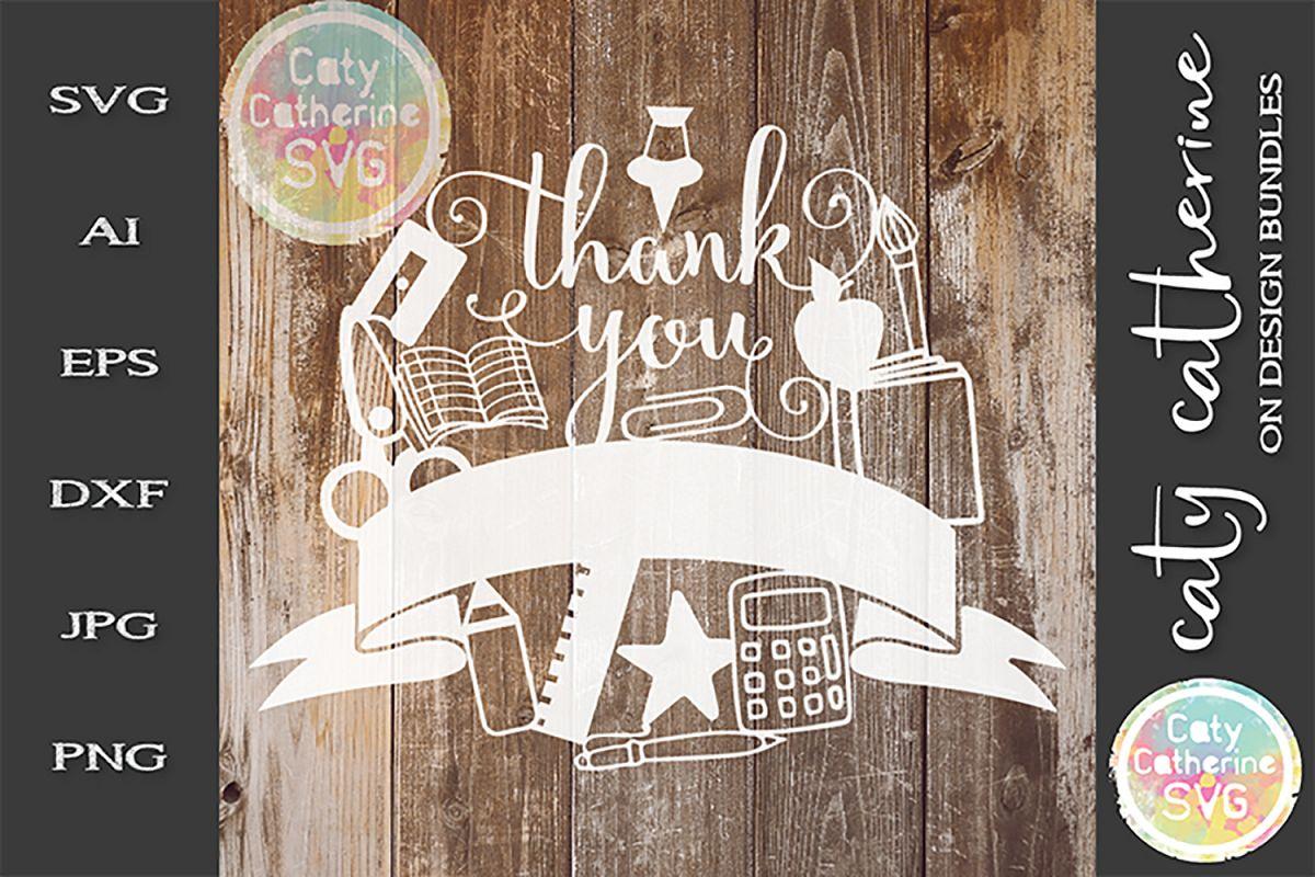 Thank You Banner Teacher Teacher'S Day SVG Cut File example image 1