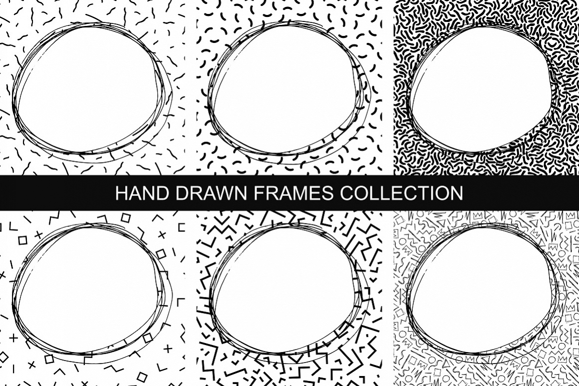 Collection of hand drawn frames example image 1