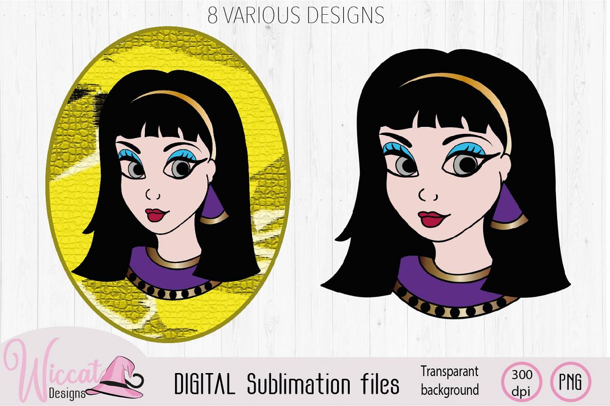 Cleopatra Girl face sublimation example image 1
