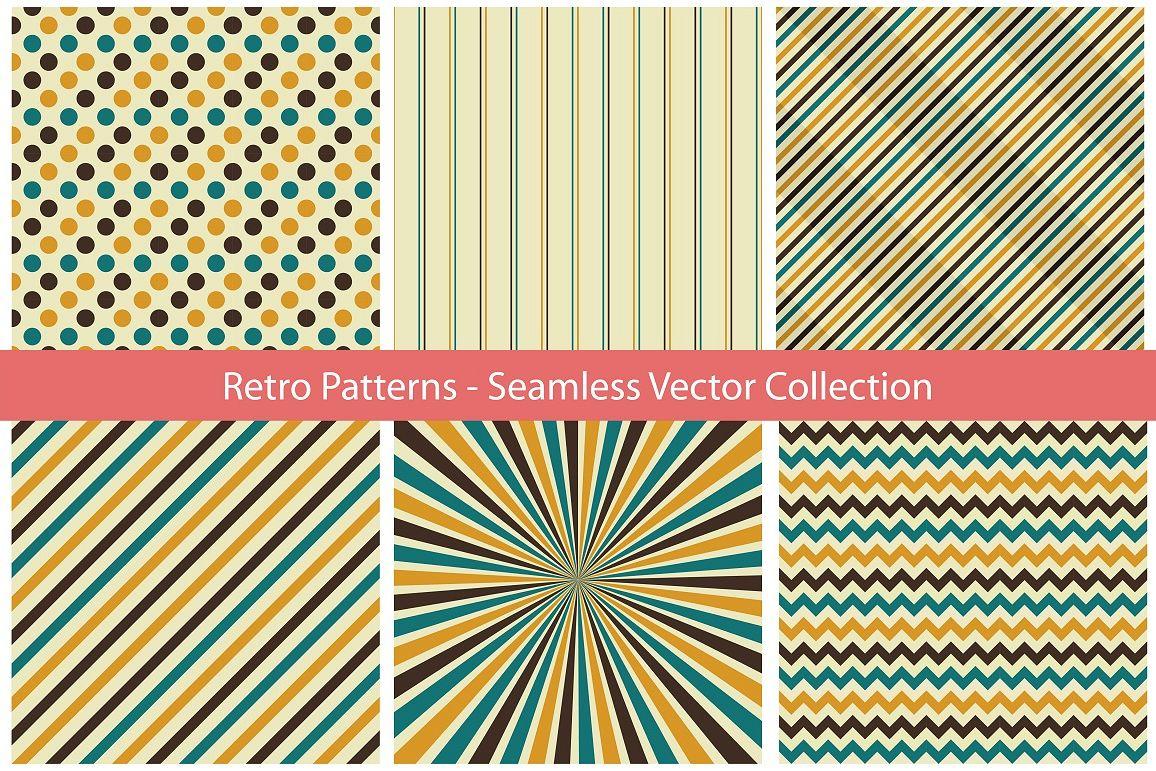 Retro Seamless Patterns example image 1